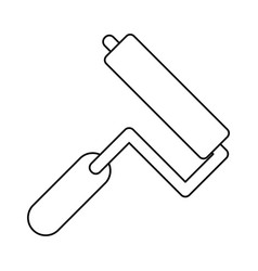 paint roller tool thin line vector image