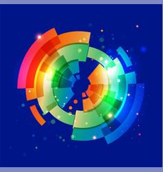 techno geometric circle vector image