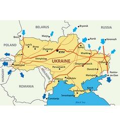 Ukrainian gas transportation system vector