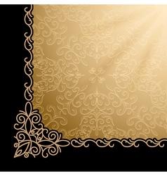Vintage gold corner background vector image vector image