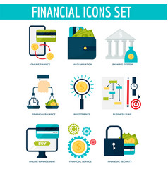banking money financial services set credit sign vector image