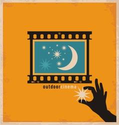 Creative design concept for outdoor cinema vector image