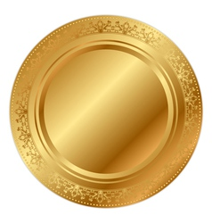 gold tray vector image vector image