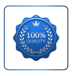 Seal award blue icon medal vector image vector image
