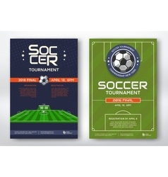 Soccer tournament posters vector image vector image
