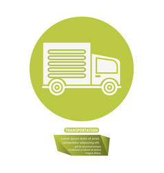 transport truck delivery pictogram vector image vector image