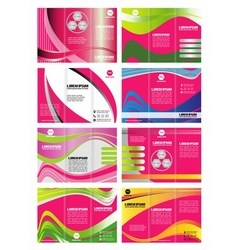 Tri-fold Brochure Design Element vector image