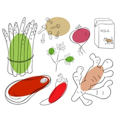 Food ingredient vector image