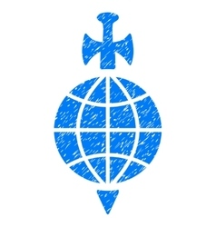 Global Guard Grainy Texture Icon vector image vector image