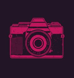 retro camera in pop-art style vector image