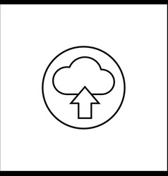 upload line icon mobile sign and cloud pictogram vector image
