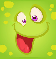 cartoon monster face vector image vector image