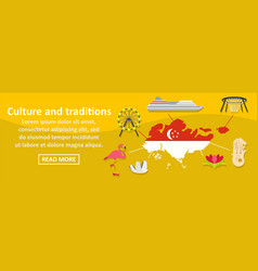 culture and traditions singapore banner horizontal vector image vector image