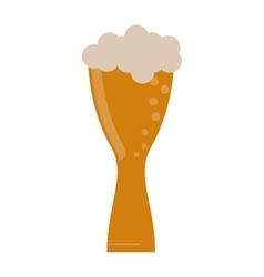 glass light beer fresh bubbles vector image