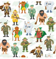 Hunters cartoon style vector