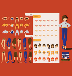 lovely office girl character with lots of spare vector image vector image
