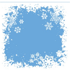 snowflake grunge vector image vector image