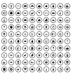 100 bounty icons set simple style vector