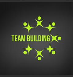 abstract green people together as circle teamwork vector image