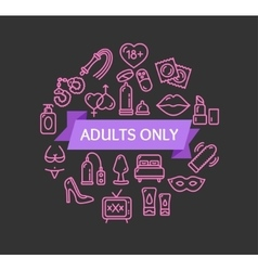 Adults Only Concept vector image