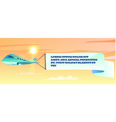 advertising banner on airplane vector image