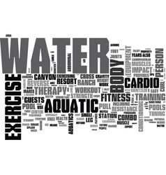 aquatic exercise equipment text word cloud concept vector image