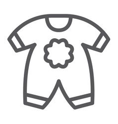 Baby clothes line icon kid and clothing vector