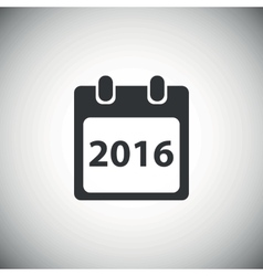 Black year 2016 calendar icon vector
