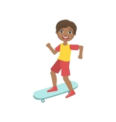 Boy Riding A Skateboard vector