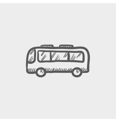 Bus sketch icon vector image