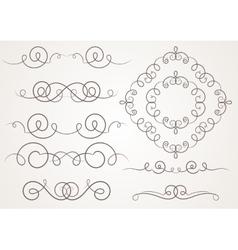 Calligraphic decorative elements vector image