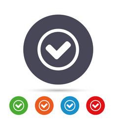 check mark sign icon yes circle symbol vector image
