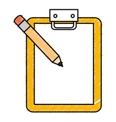 checklist clipboard with pencil vector image