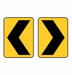 Chevron traffic sign vector