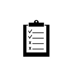 Clip board work black icon good and bad work vector