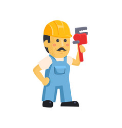 Clipart picture a male mechanic cartoon vector
