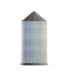 Creative of agricultural silo vector