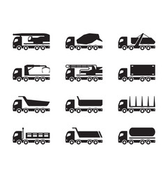 Different construction trucks vector