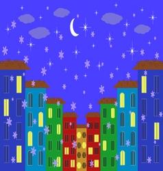 evening city vector image