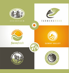 farm fresh products logo concepts vector image