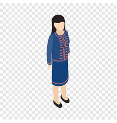 female singaporean isometric icon vector image