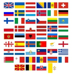 Flags of the countries of Europe vector image