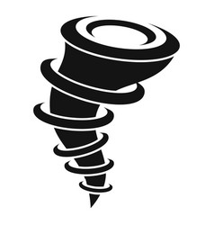 Force tornado icon simple style vector