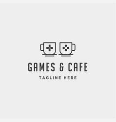 Game cafe logo design concept icon element vector