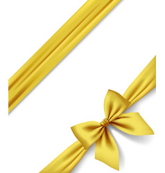 Gold ribbon and bow isolated on white background vector