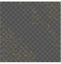 Golden glitter confetti vector