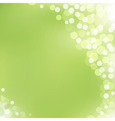 Green Background With Bokeh vector image