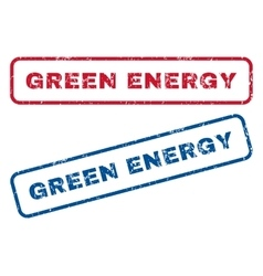 Green Energy Rubber Stamps vector