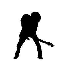 Guitarist silhouette black vector image