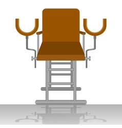 Gynecological chair vector